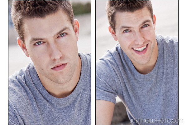 Commercial vs Theatrical Headshot for actor