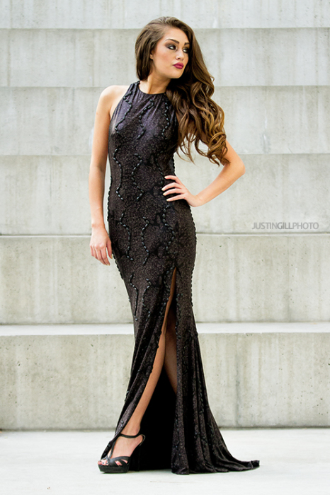 High Fashion Evening Gown Model