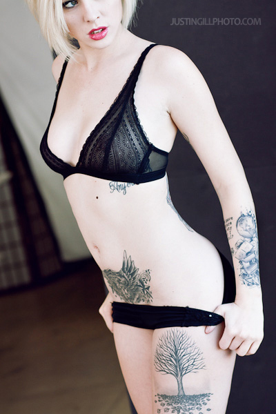 Alysha Nett tattoo lingerie glamour model photo
